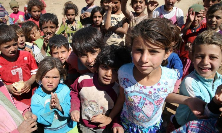 Millions of children are displaced inside and outside of Syria. (© AP Images)