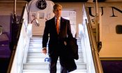U.S. Secretary of State John Kerry disembarks from his plane after arriving in Paris, France on November 4, 2014, for a trip to France,