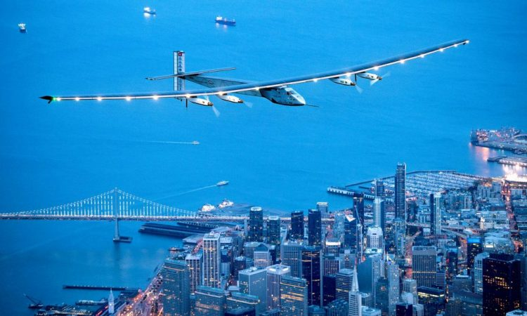 The world's first round-the-world flight to be powered solely by the sun's energy made history July 26 as it landed in Abu Dhabi, United Arab Emirates. (© AP Images)