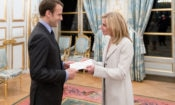 Ambassador McCourt - Presentation of Credentials to President Macron - Elysee