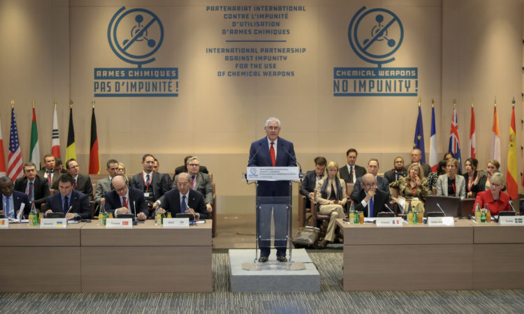 Secretary Tillerson Delivers Remarks at the Conference Launching the International Partnership Against Impunity for the Use of Chemical Weapons