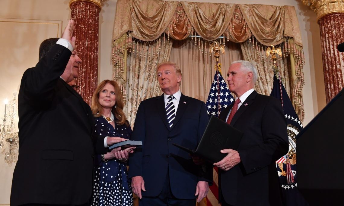 Secretary Pompeo is Sworn-in By Vice President Pence