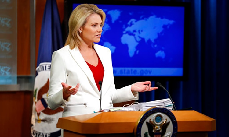 State Department spokeswoman Heather Nauert (AP image)