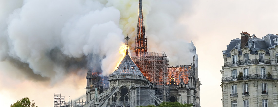 As Notre Dame burns, White House sends words of comfort to French