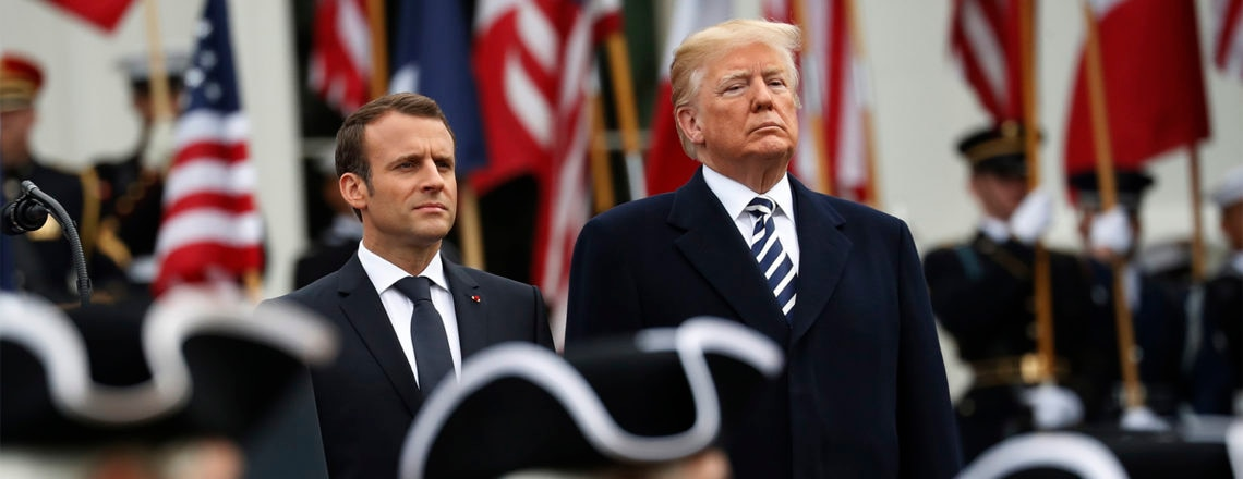 Presidents Trump, Macron celebrate their countries' close ties